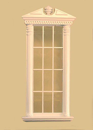 Full scale corinthian tall carved single window white for 1 single window