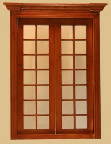 Half 1 24 scale door by bespaq 807nwn craftsman style for Craftsman french doors