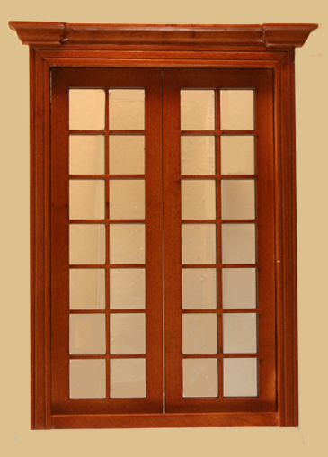 French Double Door Half Scale Finished In Walnut