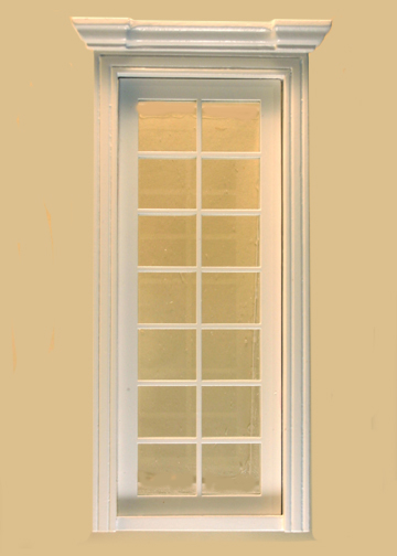 Dollhouse French Door 14 Pane Micro Glass White By