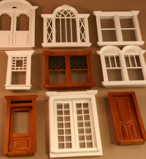 Stannford Half Scale Dollhouse Interior Door In White Majestic Mansions