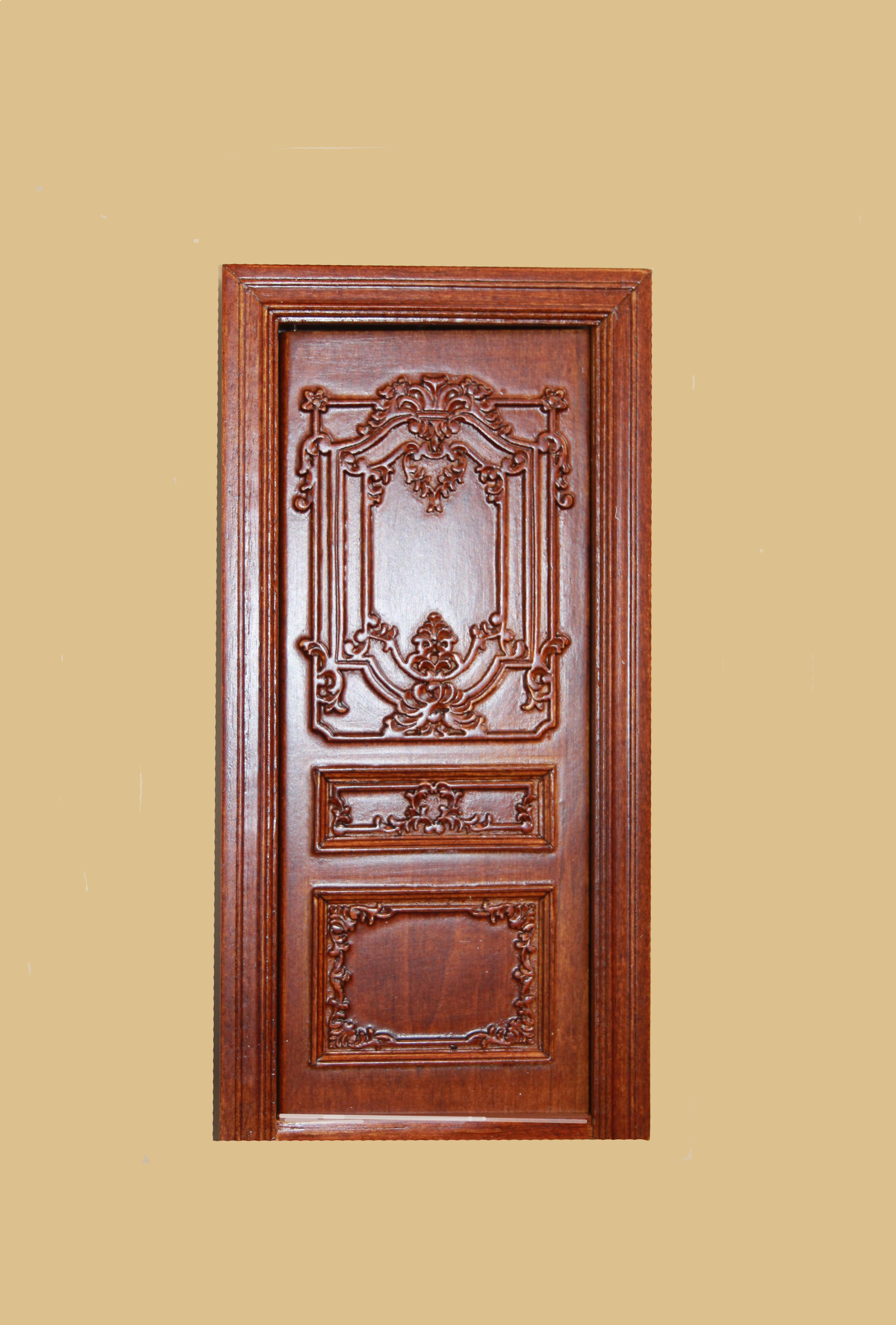 Doll House Door 1 12 Queen Anne Single Door Majestic Mansions